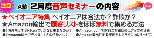 Amazonコンサルタント2013年02月度音声セミナー