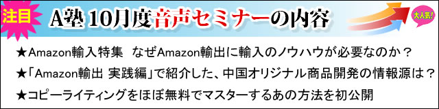 Amazonコンサルタント2013年10月度音声セミナー
