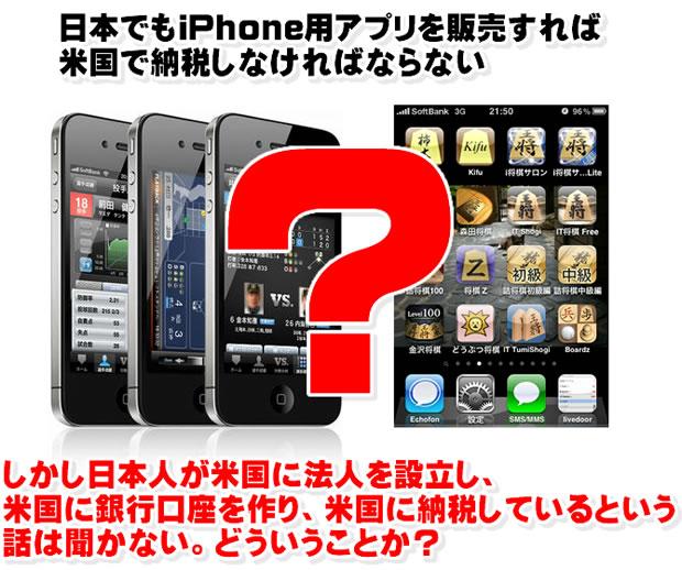 日本でもiPhone用アプリを販売すれば、米国で納税しなければならない?