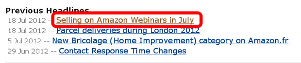 Selling on Amazon Webinars in July